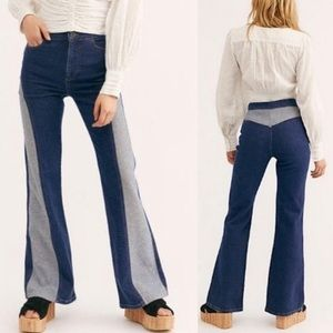 NWT Free People Flip It Reverse It Flare Jeans